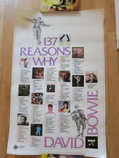 DAVID BOWIE 137 Reasons Promo Poster