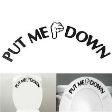 3Pcs Toilet Seats Art Wall Stickers Quote Bathroom Decal Vinyl Home Decor