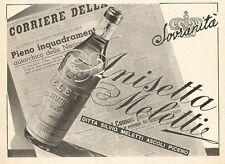 W2500 ANISETTA MELETTI - Ascoli Piceno - Pubblicità 1938 - Old advertising
