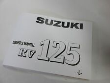 Suzuki RV125 owners manual 1974  RV125L