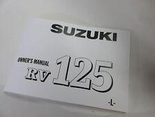 Suzuki RV125 owners manual 1974  RV125L