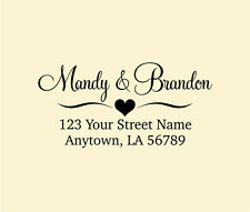 Personalized Custom Made Handle Mounted Rubber Stamp Return Address Wedding R156