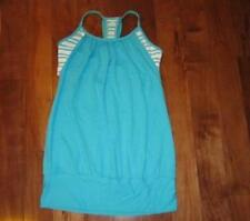 LULULEMON no limits tank in spry blue and twin stripe spry white size 8
