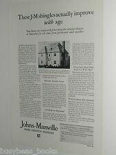 1929 Johns-Manville advertisement, Shingles, Asbestos roofing