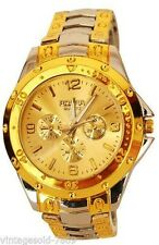 AJ8 Grey and gold tone gold dail dRosra Chronograph Styled Analog Wrist Watch