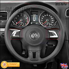 VOLANTE BORDO INSERTO per VW Golf Polo Jetta Eos Caddy Tiguan Touran Cromo