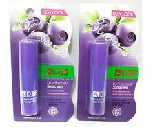 ADS 2 PCS  BLUEBERRIES FLAVOUR LIP PROTECTANT / SUNSCREEN SPF 20 LIP CARE