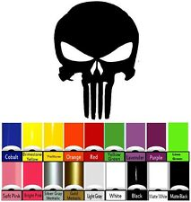 Punisher Large Decal Hood Window Vinyl Skull Jeep Truck Car 6-PACK 13x19