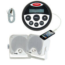 Bluetooth Marine Radio Waterproof Audio Kit MP3/USB/FM/Ipod NEW Latest Design