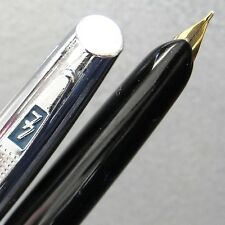 Black 77 Cartridge Fountain Pen 14K GP F Nib CROSS Cartridge