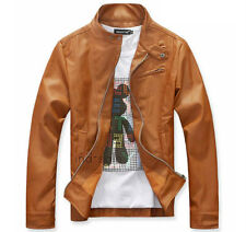 Custom Tailor Made All Sizes Genuine Leather Jacket Handmade Tan Yellow