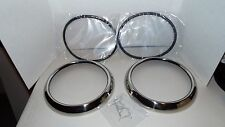 1949-1950-1951-1952 Chevy Chevrolet Car Stainless Headlight Bezels, Seals, Clips