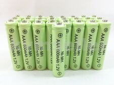 25 AAA 600mAh Ni-Mh Rechargeable Battery for Solar Landscape Path Lights D25