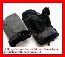 ☆ Russische Winter-Handschuhe Uniform Fellhandschuhe Sowjetarmee, aus Schaaffell
