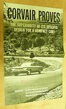 1960S CHEVROLET CORVAIR US DEALER SALES SHOWROOM SPEC BROCHURE BK2N
