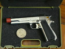 M1911 PISTOL,  DISPLAY MODEL SCALE 1/2.5, SILVER COLOR