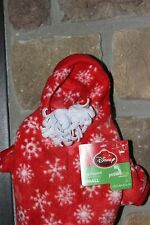 "'DISNEY""  PET HOLIDAYS Dog Apparel Small Fleece Hoodie Mickey's Image Snowflake"