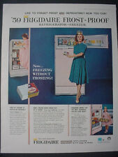 1959 Frigidaire Frost Proof Refrigerator Freezer Color Vintage Print Ad 12310