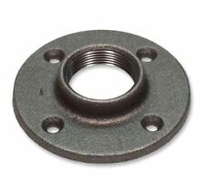 """(25) 3/4"""" BLACK MALLEABLE FLOOR FLANGE - IRON PIPE FITTING NPT- 25 Pieces"""