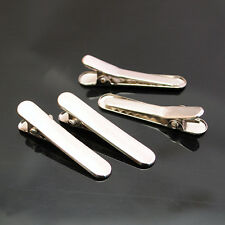 50pcs Silver Flat metal hair accessories alligator party  clip 35x6mm