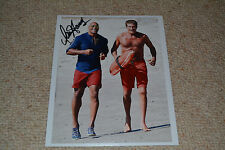 David Hasselhoff signed autógrafo 20x25 en persona baywatch 2017 Dwayne Johnson
