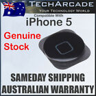 iPhone 5 5G Home Button Best Quality Black with Rubber Gasket Adhesive