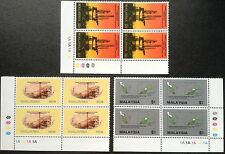 Petroleum production in Malaysia 3v Blk of 4 corners Mnh  4.11.1985