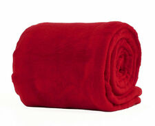 Red Double Size Deluxe Fleece Blanket Soft Luxury Warm Home Sofa Bed Throw