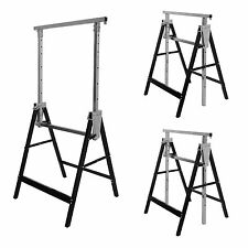 2 x Heavy Duty Telescopic Trestle Carpenter Foldable Work Bench DIY Sawhorse