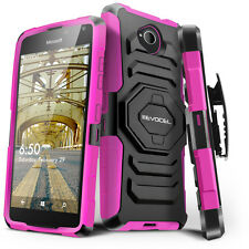 Evocel® Nokia Lumia 650 Rugged Holster Case with Kickstand & Belt Swivel Clip