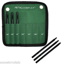 Metal Complex Leather Hole Punch Set with Pouch - Small Round