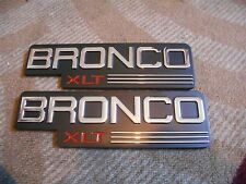 1992 1993 1994 1995 1996 FORD BRONCO XLT FRONT FENDER EMBLEMS F2TZ-16720 NEW 2x