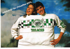 PUBLICITE ADVERTISING 064 1987  ADIDAS   les chouettes shirts  ( 2 pages)
