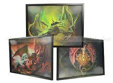 3 Dimension 3D Lenticular Picture Evil Dragon Devil Unicorn Fight Battle Dungeon