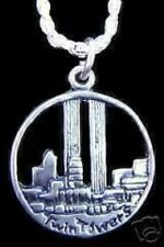 LOOK 1840 Twin Towers World Trade Center Silver Charm