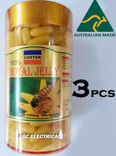 3x  ROYAL JELLY 1450mg 365 soft gel capsules 100% Natural Made Australia COSTAR