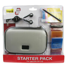 Carry Case for Ninetendo DS Lite Logic Starter Kit Screen Protectors Light Grey