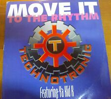 "DISCO 12"" VINILE  - TECHNOTRONIC - MOVE IT TO THE RHYTHM - DANCE MIX REMIX VG+"