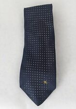 Genuine Burberry of London Blue Pin Dot Tie 100% Silk Made In Italy
