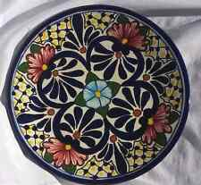 Collectible Decorative Hanging Dinner Plate Mexican Talavera Pottery Hand Paint