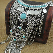 New Gypsy Bohemia Jewelry Chic Ethnic Vintage Style Leaf Tassel Beauty Necklace