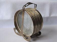 (8) Vintage STERLING Silver Coasters & Glass w/ STERLING Holder -Fisher Sterling