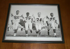 1960's L. A. RAMS FEARSOME FOURSOME FRAMED B&W PRINT