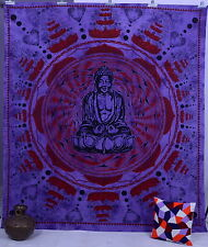 Indian Meditation Buddha Queen Tapestry Wall Hanging Bed Spread Bedding Decor
