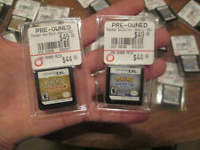 Pokemon HeartGold + SoulSilver Version Nintendo DS LOT 2 GAMES AUTHENTIC RARE