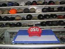 "OHIO STATE-RED 'DISTRESSED"" TRUCKERS CAP-""OSU"" ON THE FRONT SNAP ADJUSTABLE"