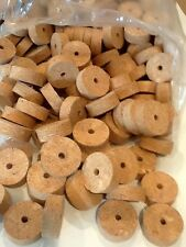"Cork Rings 12 Large Natural Burl 1 1/2"" X 1/2"" X 1/4"""