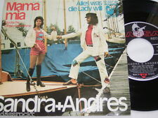 "7"" - Sandra + Andres / Mama mia & Alles was die Lady will # 3998"