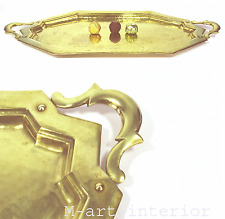 Art Deco Tablett Messing getrieben HAmmerschlag Brass Tray Vienna Wien um 1925