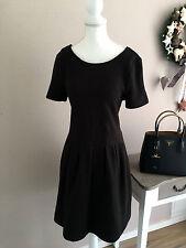 ALBA MODA super süßes Cocktail Kleid Etui Kleid Volants schwarz festlich 40 M